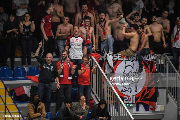 Fans of Chaumont during the CEV Champions League match Chaumont 52 and SIR Safety Perugia on March 14 2019 in Reims France