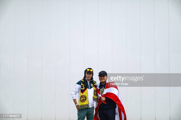 Fans of Chivas and America pose prior the 12th round match between America and Chivas as part of the Torneo Apertura 2019 Liga MX at Azteca Stadium...