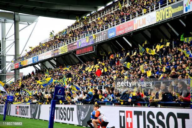 Fans of Clermont during the European Rugby Champions Cup, Pool 3 match between Clermont and Ulster on January 11, 2020 in Clermont-Ferrand, France.