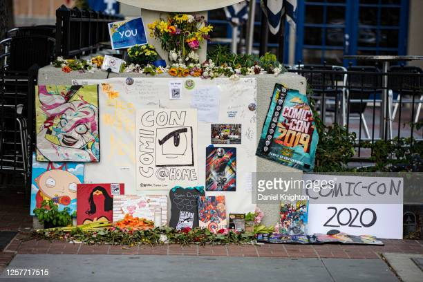 Fans of Comic-Con set up a makeshift memorial on July 22, 2020 in San Diego, California. 2020 Comic-Con International will occur as a virtual event,...