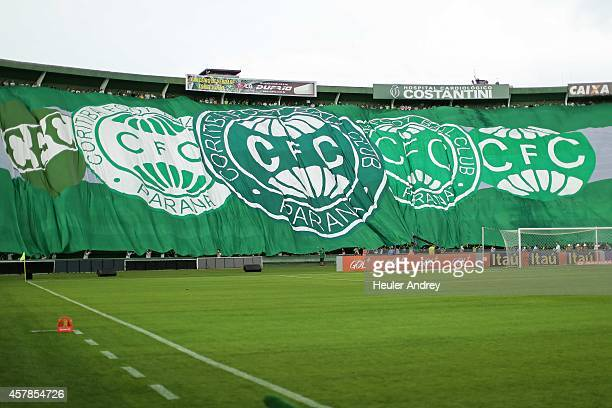 Fans of Coritiba during the match between Coritiba and Gremio for the Brazilian Series A 2014 at Couto Pereira stadium on October 25 2014 in Curitiba...