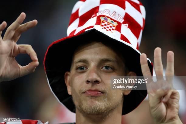 Fans of Croatia celebrate after their team won the 2018 FIFA World Cup Russia Group D match against Argentina at Nizhny Novgorod Stadium in Nizhny...