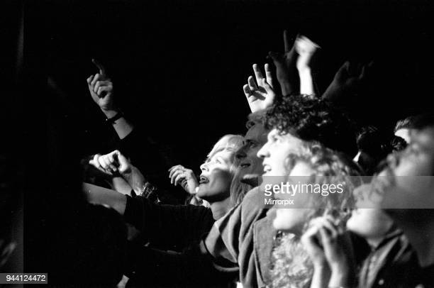 Fans of David Bowie watch him on stage at the Birmingham NEC during the first leg of his Sound and Vision Tour, Picture taken 19th March 1990.