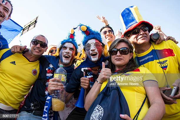 Fans of Ecuador in the 2014 FIFA World Cup.