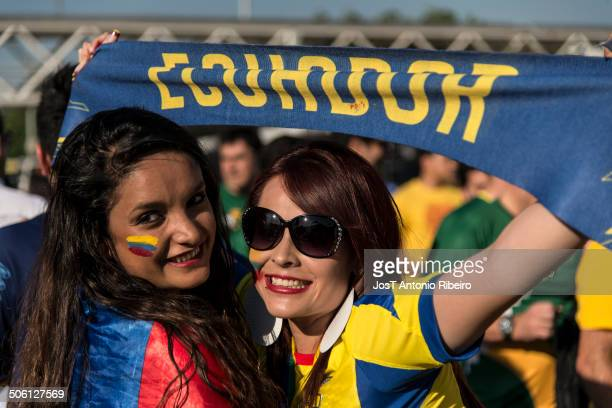 Fans of Ecuador in the 2014 FIFA World Cup