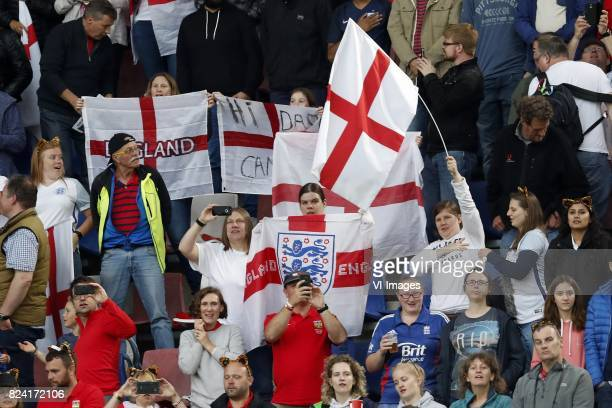fans of Engeland women during the UEFA WEURO 2017 Group D group stage match between England and Spain at the Rat Verlegh stadium on July 23 2017 in...