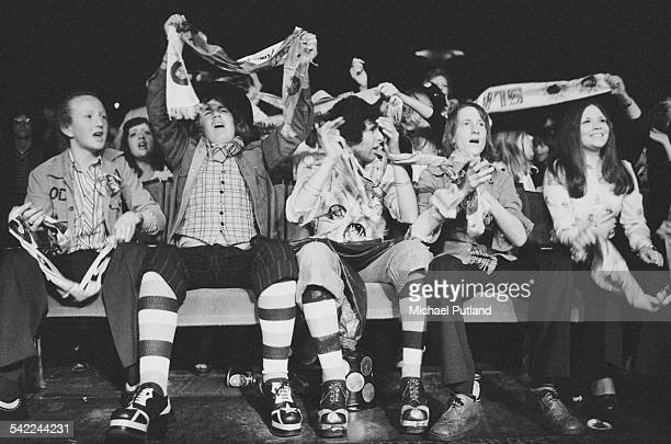 Fans of English rock group Slade in the audience at one of the band's two nights at the New Victoria Theatre London 25th26th April 1975
