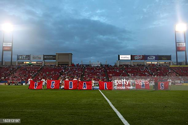 Fans of FC Dallas take the field prior to kickoff against the Vancouver Whitecaps FC on September 15 2012 at FC Dallas Stadium in Frisco Texas