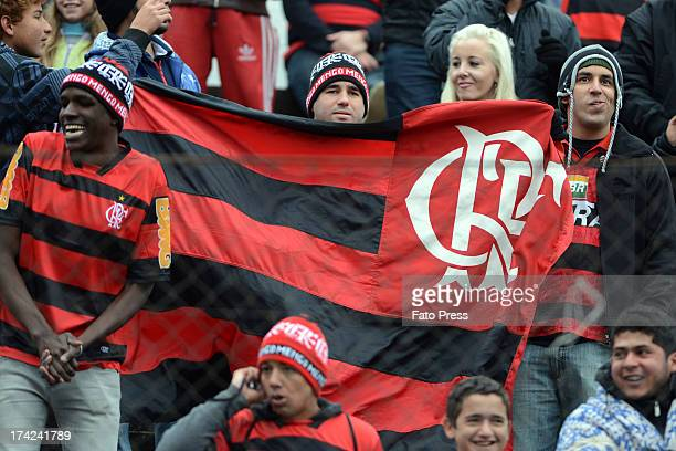 Fans of Flamengo during the match between Flamengo and Internacional for the Brazilian Serie A 2013 on July 21 2013 in stadium Centenário in Porto...