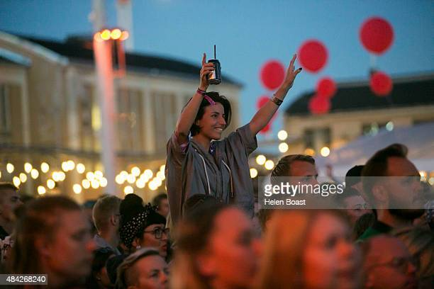 fans of Florence and the Machine on Day 3 of Flow Festival on August 16 2015 in Helsinki Finland