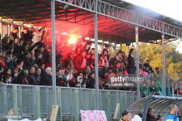 Fans of Florentia San Gimignano Women during the Women Serie A match between Florentia and AC Milan on November 30 2019 in Florence Italy