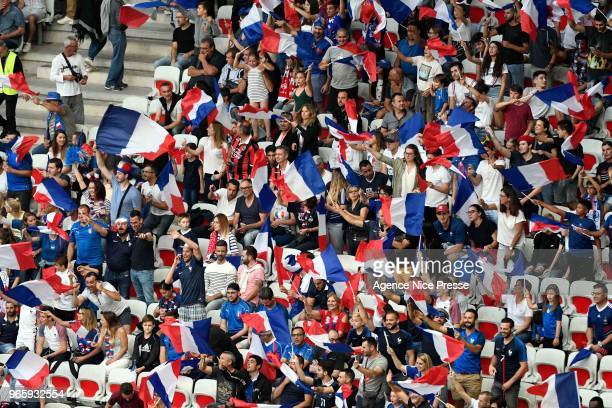 Fans of France during the International Friendly match between France and Italy at Allianz Riviera Stadium on June 1 2018 in Nice France