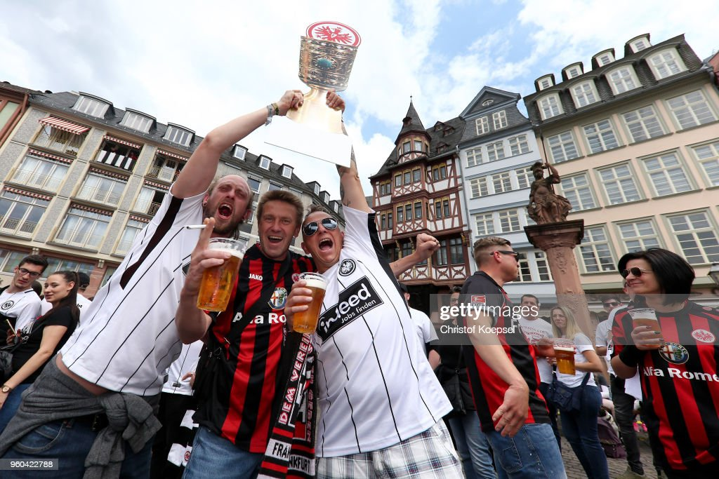 Eintracht Frankfurt Celebrate Winning The DFB Cup