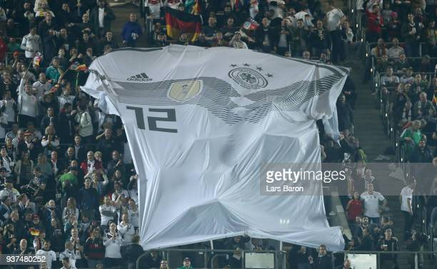 Fans of germany are seen during the International Friendly match between Germany and Spain at EspritArena on March 23 2018 in Duesseldorf Germany