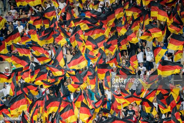 Fans of Germany during the International Friendly match between Germany and Peru on September 9 2018 in Sinsheim Germany