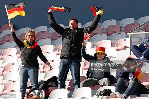 Fans of Germany during the match of the U16 Girl's Germany v U16 Girl's France UEFA Tournament on February 15 2016 in Vila Real de Santo Antonio...