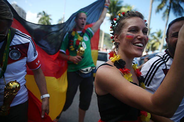 BRA: World Cup Fans Gather To Watch Argentina v Germany In Final Match