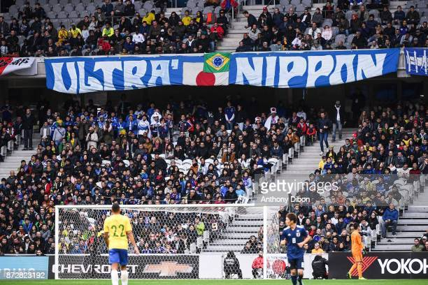 Fans of Japan and Brazil during the international friendly match between Japan and Brazil at Stade Pierre Mauroy on November 10 2017 in Lille France