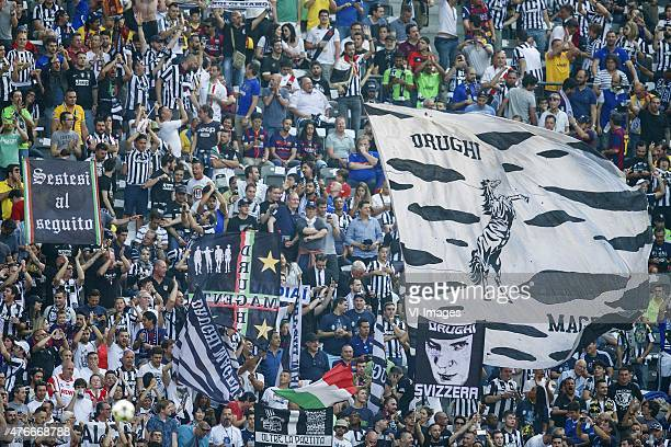 fans of Juventus FC during the UEFA Champions League final match between Barcelona and Juventus on June 6 2015 at the Olympic stadium in Berlin...