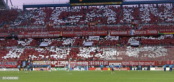 Fans of Korea during the South Korea v Italy, World Cup Second Round match played at the Daejeon World Cup Stadium, Daejeon, South Korea on June 18,...