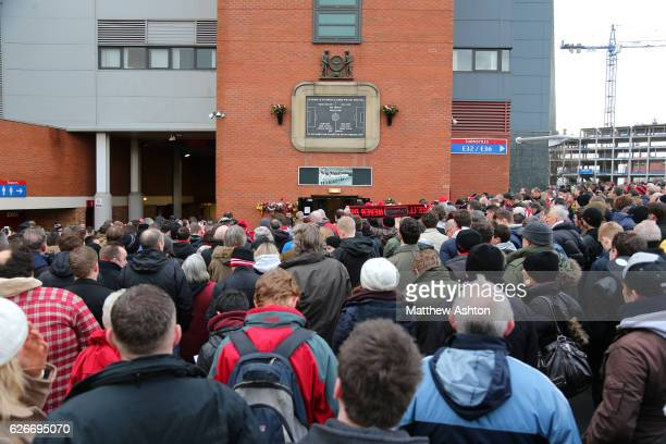 Fans of Manchester United remember the players who died in the Munich Air Disaster on February 6th 1958