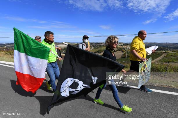 Fans of Marco Pantani of Italy / Italian Flag / Public / during the 93rd UCI Road World Championships 2020, Women Elite Road Race a 143km race from...