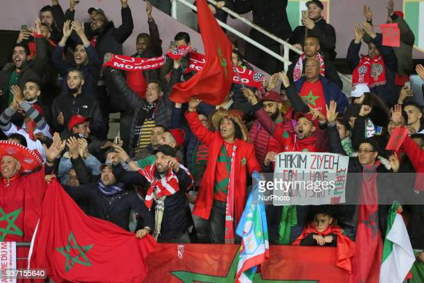 Fans of Marocco before the international friendly football match between Marocco and Serbia at Olympic Grande Torino Stadium on 23 March 2018 in...