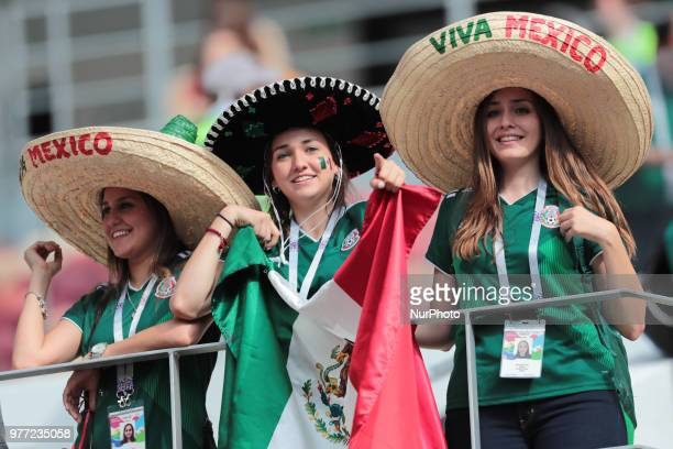 Fans of Mexico National tean before a Group F 2018 FIFA World Cup soccer match between Germany and Mexico on June 16 at the Kazan Arena in Kazan...