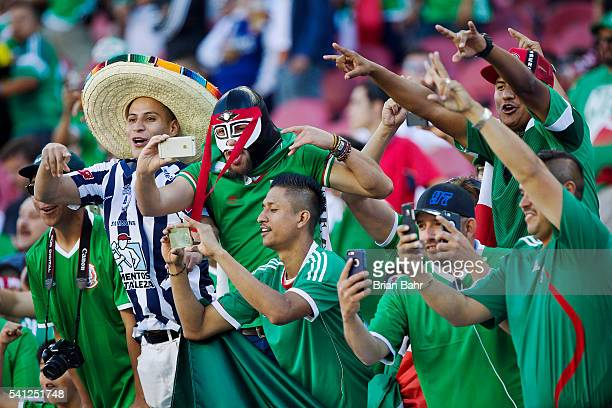 Fans of Mexico take pictures of their team before a Quarterfinal match between Mexico and Chile as part of Copa America Centenario US 2016 at Levi's...
