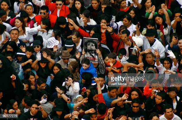 Fans of Michael Jackson during an attempt to break the Guinness World Record for the biggest mass 'Thriller' dance as a posthumous tribute to Michael...