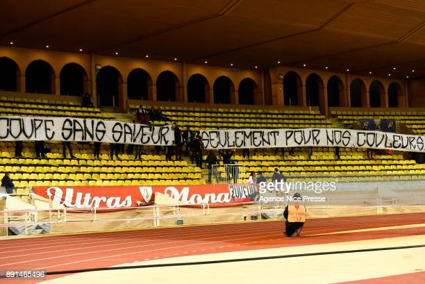 Fans of Monaco during the french League Cup match Round of 16 between Monaco and Caen on December 12 2017 in Monaco Monaco