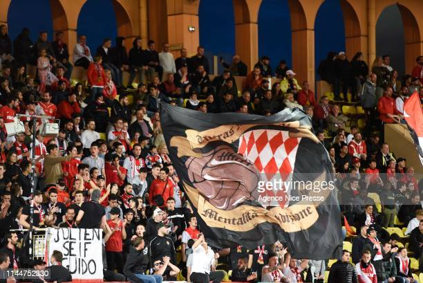 Fans of Monaco during the Ligue 1 match between Monaco and Amiens at Stade Louis II on May 18, 2019 in Monaco, Monaco.
