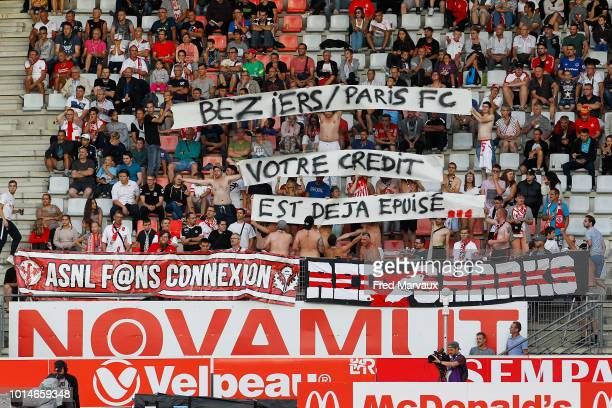 Fans of Nancy during the French Ligue 2 match between Nancy and Lens at Stade Marcel Picot on August 10 2018 in Nancy France