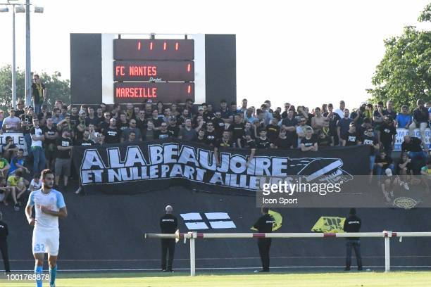 Fans of Nantes during the Friendly match between Marseille and Nantes on July 18 2018 in La RochesurYon France of Marseille