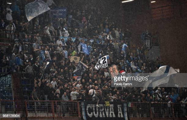 Fans of Napoli during the serie A match between UC Sampdoria and SSC Napoli at Stadio Luigi Ferraris on May 13 2018 in Genoa Italy