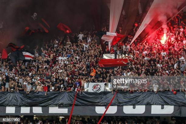 fans of OGC Nice during the UEFA Champions League third round qualifying first leg match between OGC Nice and Ajax Amsterdam on July 26 2017 at the...