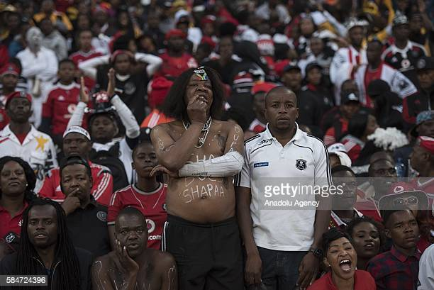 Fans of Orlando Pirates are seen during 2016 Carling Black Label Cup between Kaizer Chiefs FC and Orlando Pirates at FNB Stadium in Johannesburg...