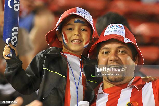 Fans of Paraguay pose for a picture during a match between Paraguay and Chile as part of FIFA 2018 World Cup Qualifiers at Defensores del Chaco...