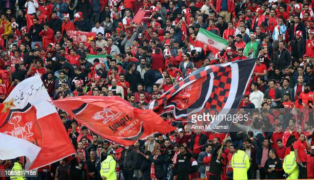 Fans of Persepolis show their support during the AFC Champions League final second leg match between Persepolis and Kashima Antlers at Azadi Stadium...