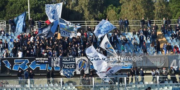 Fans of Pescara Calcio during the Serie B match between Pescara Calcio and Venezia FC at Adriatico Stadium on December 7, 2019 in Pescara, Italy.