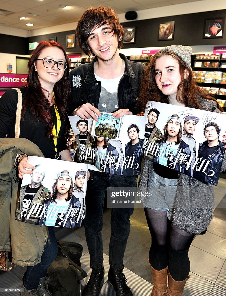 Pierce the veil t shirt signing photos and images getty images fans of pierce the veil meet the band at a signing of a new hmv exclusive m4hsunfo