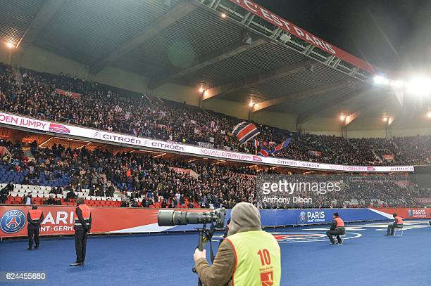 Fans of PSG during the Ligue 1 match between Paris Saint Germain PSG and Fc Nantes at Parc des Princes on November 19 2016 in Paris France