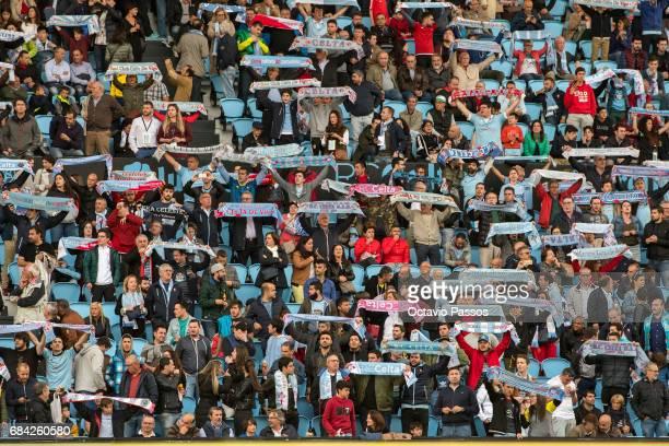 Fans of RC Celta during the La Liga match between Celta Vigo and Real Madrid at Estadio Balaidos on May 17 2017 in Vigo Spain