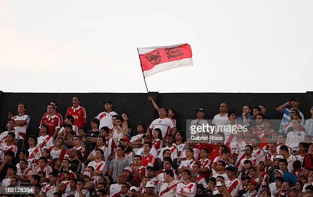 Fans of River Plate during a match between River Plate and Velez Sarsfield as part of Torneo Final 2013 at Antonio Vespucio Liberti Stadium on March...