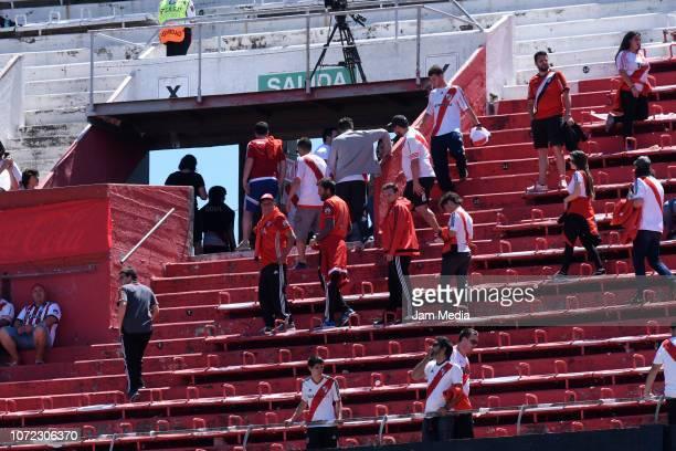 Fans of River Plate the second leg of the final of Copa CONMEBOL Libertadores 2018 between River Plate and Boca Juniors at Estadio Monumental Antonio...