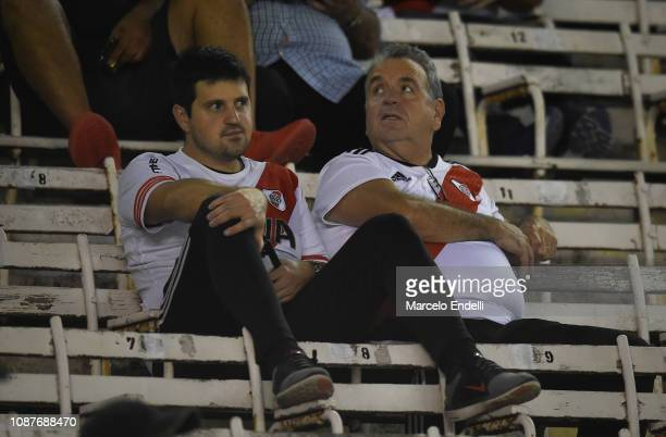 Fans of River Plate wait in stands before a match between River Plate and Union as part of Round 12 of Superliga 2018/19 at Estadio Monumental...
