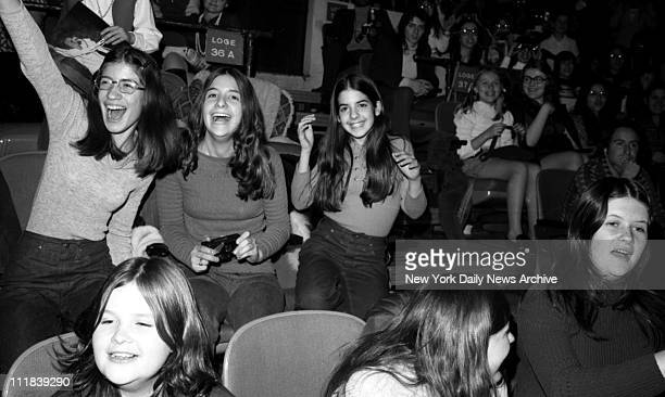Fans of Rock star David Cassidy in concert at Madison Square Garden