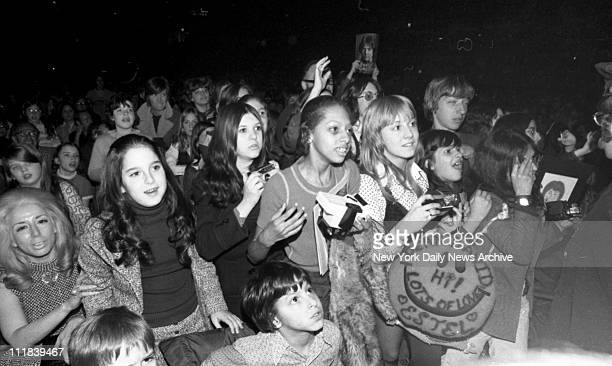 Fans of Rock star David Cassidy in concert at Madison Square Garden Multi decibelsthey can't hear him only each other But who cares