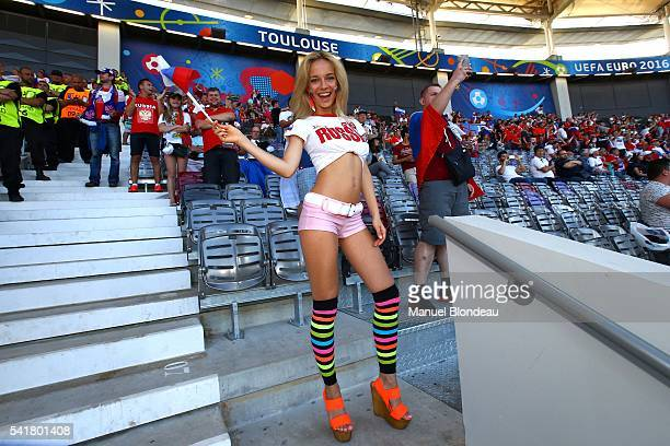 Fans of Russia before the UEFA EURO 2016 Group B match between Russia v Wales at Stadium Municipal on June 20 2016 in Toulouse France