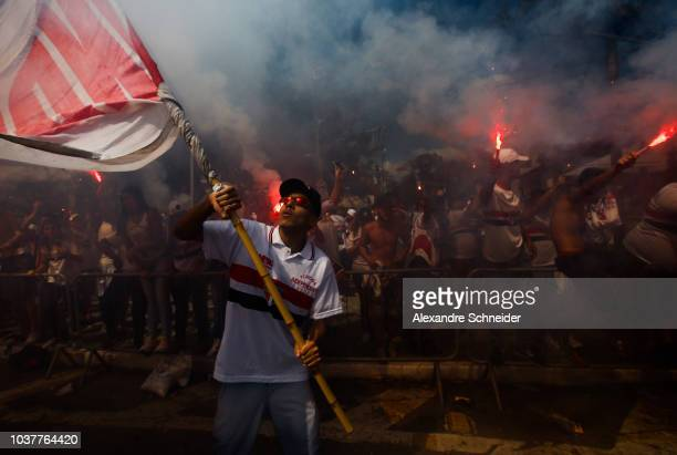 General view of the field after the match between Sao Paulo and America MG for the Brasileirao 2018 at Morumbi Stadium on September 22 2018 in Sao...